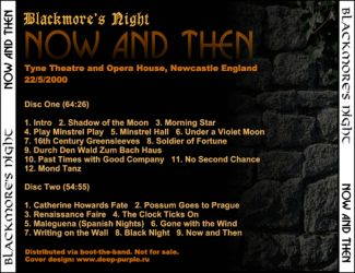 Blackmore's Night 2000.05.22 [Audio-CD] задник