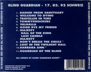 Blind Guardian 1992.03.17 [Audio-CD] задник