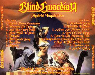 Blind Guardian 1996.11.02 [Audio-CD] задник