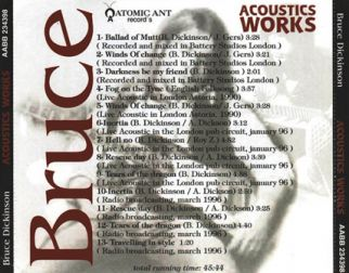 Bruce Dickinson 1996 [Audio-CD] задник