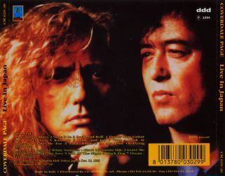 Coverdale & Page 1993.12.15 [Audio-CD] задник