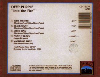 Deep Purple 1970 [Audio-CD] задник
