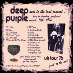Deep Purple 1976.03.12 [Audio-CD] задник