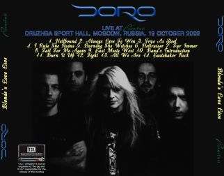 Doro 2002.10.19 [Audio-CD] задник