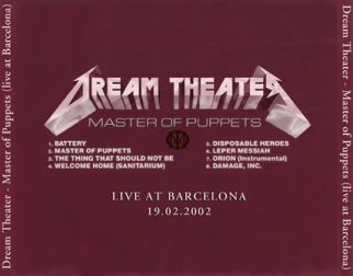 Dream Theater 2002.02.19 [Audio-CD] задник