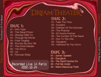 Dream Theater 2002.10.24 [Audio-CD] задник