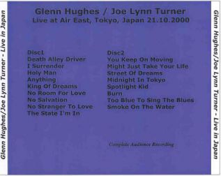 Glenn Hughes & Joe Lynn Turner 2000.10.21 [Audio-CD] задник