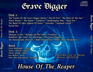 Grave Digger 2003.02.08 [Audio-CD] задник
