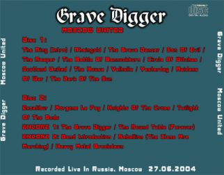 Grave Digger 2004.06.27 [Audio-CD] задник