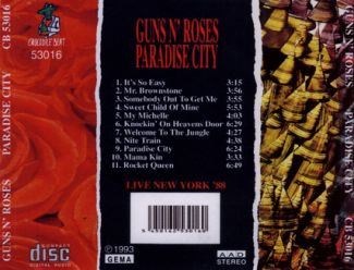 Guns 'n' Roses 1988 [Audio-CD] задник