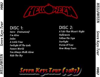 Helloween 1987.11.27 [Audio-CD] задник