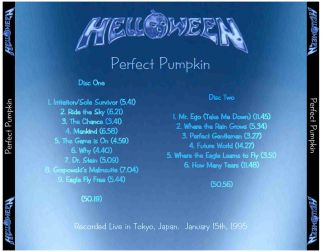Helloween 1995.01.15 [Audio-CD] задник