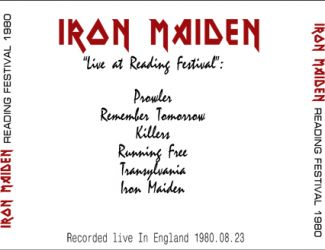 Iron Maiden 1980.08.23 [Audio-CD] задник