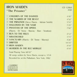 Iron Maiden 1982.06.29 [Audio-CD] задник