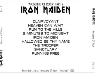 Iron Maiden 1992 [Audio-CD] задник