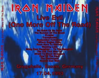 Iron Maiden 1993.04.17 [Audio-CD] задник