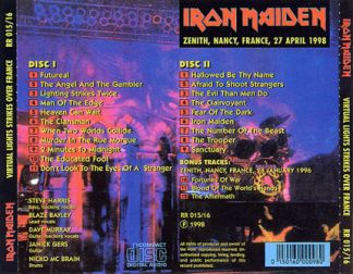 Iron Maiden 1998.04.27 [Audio-CD] задник