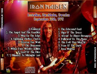 Iron Maiden 1998.09.25 [Audio-CD] задник