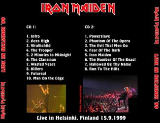 Iron Maiden 1999.09.15 [Audio-CD] задник