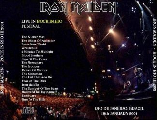 Iron Maiden 2001.01.19 [Audio-CD] задник
