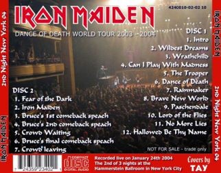 Iron Maiden 2004.01.24 [Audio-CD] задник