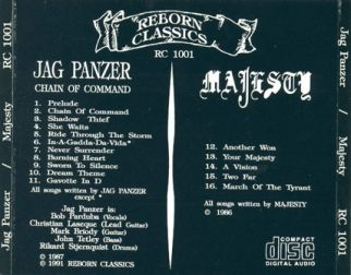 Jag Panzer  [Audio-CD] задник