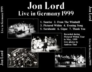 Jon Lord 1999 [Audio-CD] задник