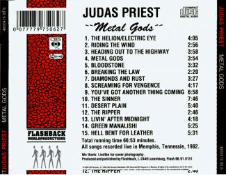 Judas Priest 1982.12.12 [Audio-CD] задник
