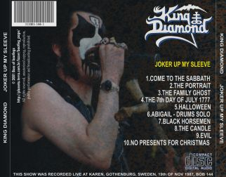 King Diamond 1987.11.19 [Audio-CD] задник