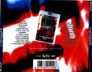 Kiss 1995.07.02 [Audio-CD] задник