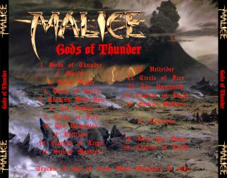 Malice 1988 [Audio-CD] задник