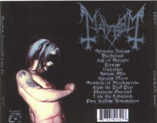 Mayhem 1998.11.02 [Audio-CD] задник
