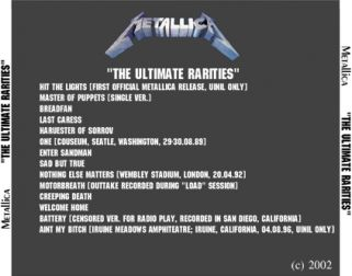 Metallica  [Audio-CD] задник