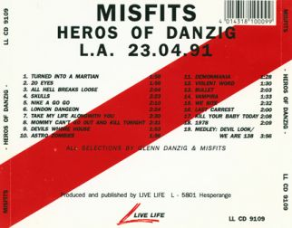 Misfits 1991.04.23 [Audio-CD] задник