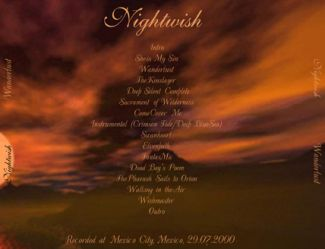 Nightwish 2000.07.29 [Audio-CD] задник