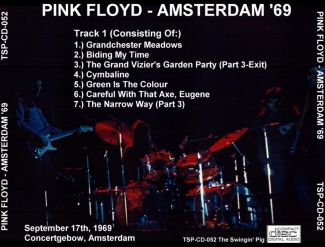 Pink Floyd 1969.09.17 [Audio-CD] задник