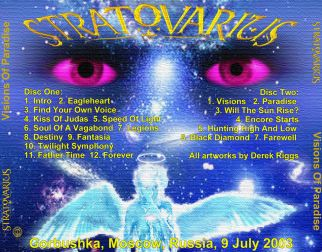 Stratovarius 2003.07.09 [Audio-CD] задник