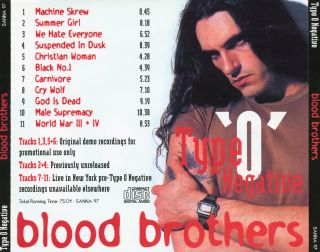 Type O Negative  [Audio-CD] задник