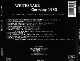 Whitesnake 1983.03.03 [Audio-CD] задник